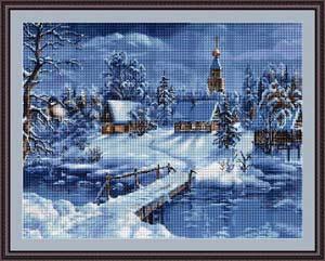 Вышивка крестом зима схемы. Вышивка крестом зимние пейзажи схемы.