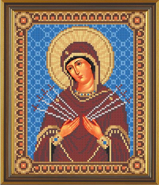 Вышивка крестом Божия Матерь